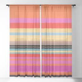 Sunset Stripes Sheer Curtain