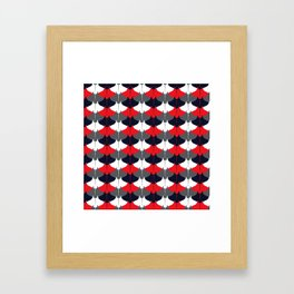 Manta Ray Pattern (Blue and Red) Framed Art Print