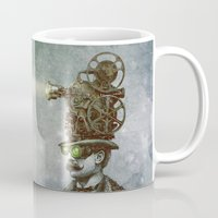 watch Mugs featuring The Projectionist (colour option) by Eric Fan