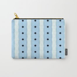 Baby Blue Vertical Organic Stripes Carry-All Pouch