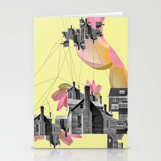 Filled with city Stationery Cards