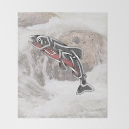 Celtic Knot Salmon Throw Blanket