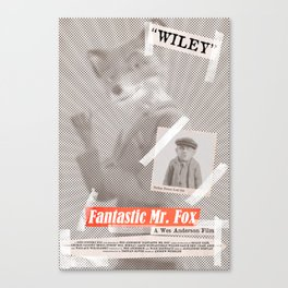 Mr. Fox Tabloid Canvas Print