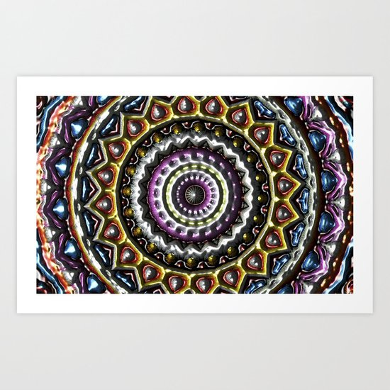 Mandala in relief Art Print