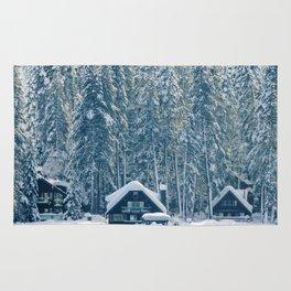 Winter's Cottage (Color) Rug