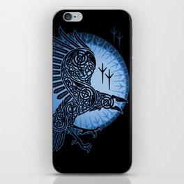 Viking Raven of Death - Blue iPhone Skin