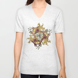 Hands and Coins Unisex V-Neck