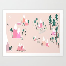 Let's Be Adventurers Art Print
