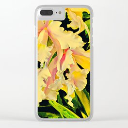 Two Cattleya Orchids Aloha Clear iPhone Case
