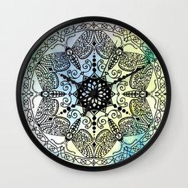 Moth Mandala Wall Clock