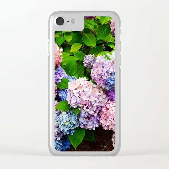 Rainbow of Flowers Clear iPhone Case