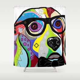 Sophisticated Beagle Shower Curtain