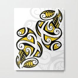 Tribal Black & Yellow  Metal Print