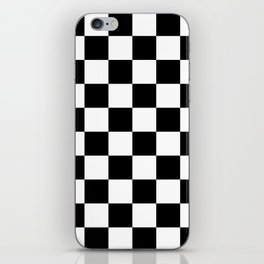 Checkered Pattern: Black & White iPhone Skin