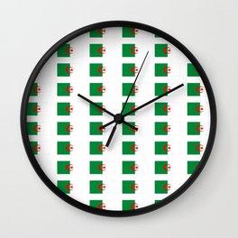 Flag of algeria 2 -algerian,algiers,camus,chaabi,oran,constantine,Annaba. Wall Clock
