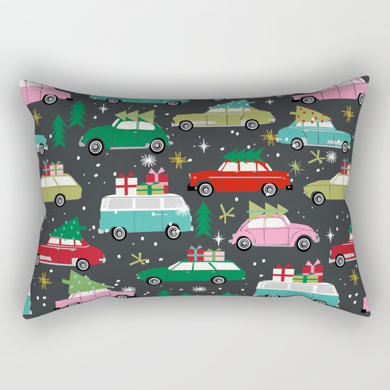 Christmas pattern print vintage cars holiday gifts