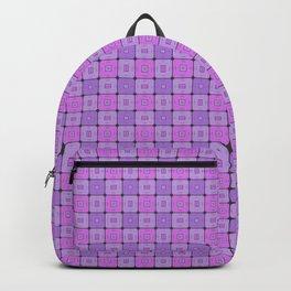 Violet Geometrical Pattern Backpack