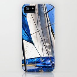 A Sailor Is An Artist And His Medium The Wind iPhone Case