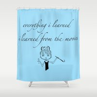 movies Shower Curtains featuring The Movies... by Jaclyn Celeste