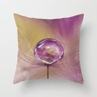 singapore Throw Pillows featuring Singapore Lashes by AmyDee