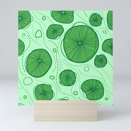 Pattern of stylized design lotus leaves Mini Art Print
