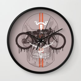 Board Track Racer Wall Clock