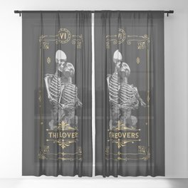 The Lovers VI Tarot Card Sheer Curtain