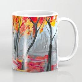 Fall / Autumn Landscape - Rainy Tree, Changing Leaves Painting Coffee Mug