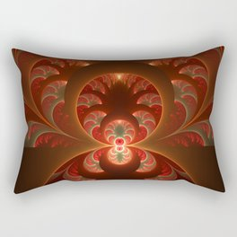 Fractal Mysterious, Warm Colors Are Shining Rectangular Pillow