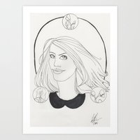 lydia martin Art Prints featuring Lydia by Wolfhearted