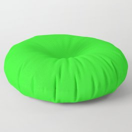 From The Crayon Box – Electric Lime - Bright Green - Neon Green Solid Color Floor Pillow