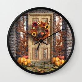 Harvest Door Wall Clock