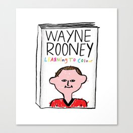 Wayne Rooney's autobiography Canvas Print