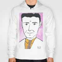 fitzgerald Hoodies featuring F. Scott Fitzgerald with a Tie by DestructionPischke
