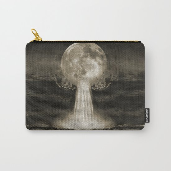 Waterfall Moon Sepia Carry-All Pouch