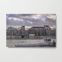 Seine wharf, Paris, France Metal Print