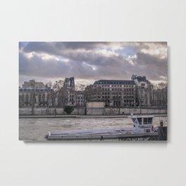 Seine wharf, Paris, France Metal Print