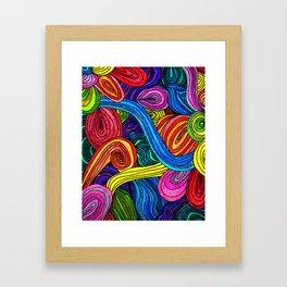 Psychedelic Lines Framed Art Print