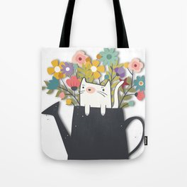 The Cat Is Back Tote Bag