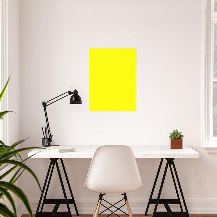 Bright Fluorescent Yellow Neon Poster