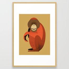 Whimsy Orang Utan Framed Art Print