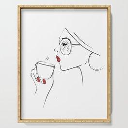 Espresso Chic Serving Tray