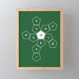 Green Unrolled D12 Framed Mini Art Print