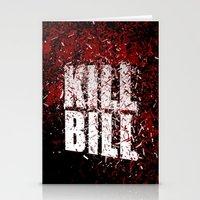 kill bill Stationery Cards featuring KILL BILL blood by Osman SARGIN