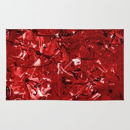 Abstract #446 Red Chaos Rug