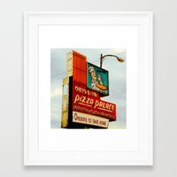 pizza Framed Art Prints featuring Pizza by Hazel Bellhop