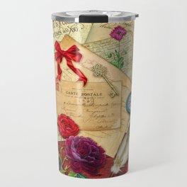 Vintage Love Letters Travel Mug