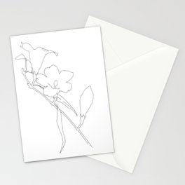 Carolina Jessamine (outline) Stationery Cards