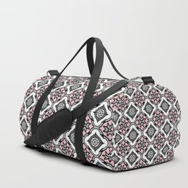Pink Grey Pattern Duffle Bag