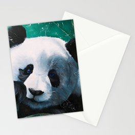 Panda - A little peckish - by LiliFlore Stationery Cards